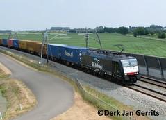 ERS 189 098 met de melzo bij hardinxveld-Giessendam (tjoekdjg) Tags: de br route met naar 189 ers sliedrecht 098 betuwe melzo hardinxveld kijfhoek giessendam