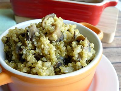 Viva Vegan - Quinotto (Quinoa-Oyster Mushroom Risotto)