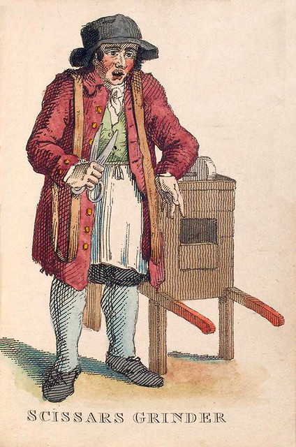 015-Afilador de tijeras-Costume of the lower orders of the metrópolis 1820- Lord  Thomas Busby