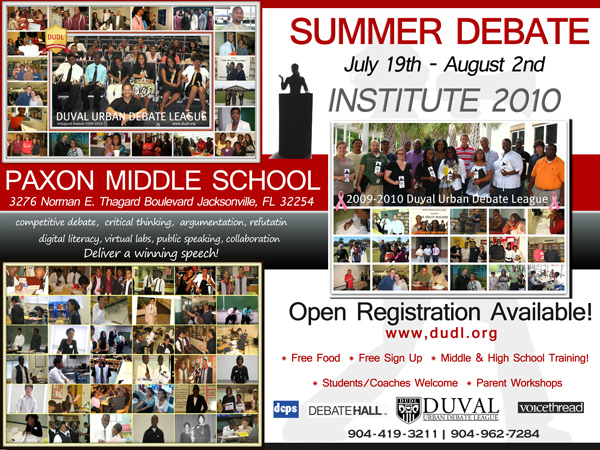 Duval Urban Debate Summer Camp
