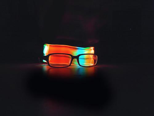 Rainbow glasses /Light painting