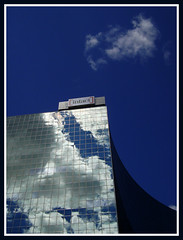 Intact (Richard Wintle) Tags: sky toronto ontario canada reflection glass clouds downtown collegestreet queenspark ing universityavenue intact ontariohydro opg g20 ontariopowergeneration discoverydistrict cmwdblue hydroplace