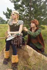 HTYD: Astrid & Hiccup! (Nic Hippler Photography) Tags: nature outside outdoors battle astrid armor axe vikings colossal hiccup rin 2010 rini howtotrainyourdragon colossalconrini