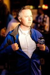 News Reporter Begins Broadcast In Front of Looted Foot Locker Store, Oakland Riots, 2010 (Thomas Hawk) Tags: california usa america oakland riot unitedstates unitedstatesofamerica protest eastbay riots oscargrant oaklandriots oaklandlocal johannesmersehle oaklandca070810 oaklandriots2010