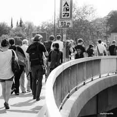 (city/human/life (a little bit longer break)) Tags: bridge light party people music sun festival walking licht essen nikon crowd menschen heat musik sonne ruhr ruhrgebiet chl hitze krach d90 essenwerden umsonstunddraussen nikond90 werdenopenair cityhumanlife
