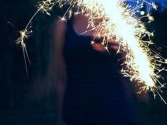 83|365 - sparkler, woooo. (chelsearoberson) Tags: summer fireworks july sparklers olympuse520 chelsearoberson