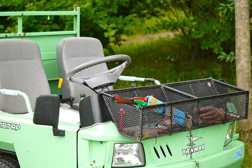 植物園の作業車