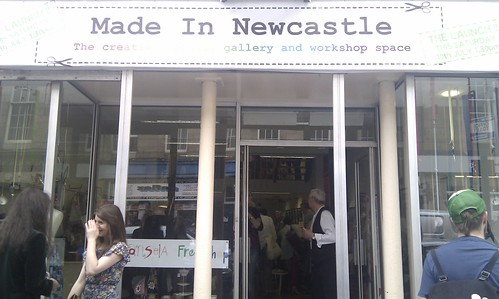 New Made in Newcastle shop front by championmonkeyface