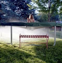 (Eli Craven) Tags: trees summer sun 120 6x6 film water analog zeiss mediumformat square jump kodak trampoline hasselblad sprinkler medium format portra 80mm 500cm 400nc