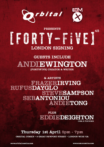 Forty Five Signing Poster