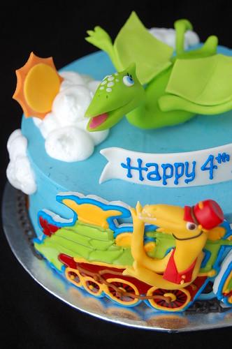 Superb Dinosaur Train Birthday Cake A Photo On Flickriver Personalised Birthday Cards Veneteletsinfo