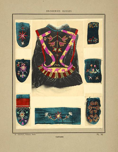 008-Manoplas y vestimenta de terciopelo bordados-Tartaria-Broderies russes tartares armeniennes 1925
