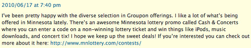 MN Lottery Blog Spam