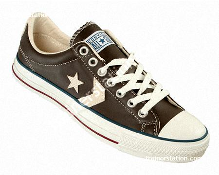 c07b9e64cbcd65 Converse Star Player Oxford Brown Leather Trainers (trainers buyer) Tags   starchevron starplayer conversestar