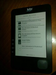 My Kobo eReader ebook reader