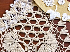 Irish Crochet Variations (vashtirama) Tags: irish manchester brittany lace crochet knot chainlink clones conference 2010 maire cgoa treanor