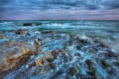Blue world (FJGB) Tags: sunset sea espaa seascape beach marina photoshop canon atardecer mar andaluca mediterranean playa mediterrneo mlaga lightroom photomatix berrocal eos450d calaburra tamron1024mm