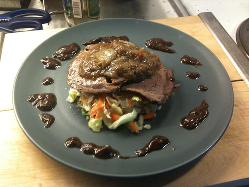 Roast Beef with Chocolate-Orange sauce