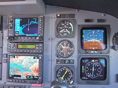 Active Control Panel (Travis S.) Tags: alaska plane airplane flying interior maps jet cockpit aerial controls gps speedometer gauges altimeter