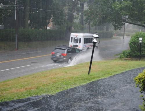 Rain and cars go *splash*!