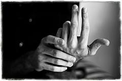 conterò le parole che mi separano da te (luce_eee) Tags: bw man words hands hand portfolio canon50mmf18 gesture pensieri parole gesti canon400d unaciertamiradatextures48 wwwrinaciampolillocom