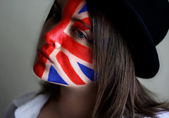 Day Two Eight Six (Lou Bert) Tags: portrait art girl face hat self jack paint union 365 unionjack bowler