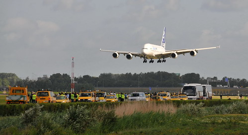 Airbus A380 Amsterdam Schiphol Airport by FaceMePLS, on Flickr