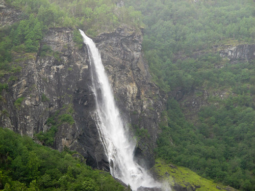 Waterfall & Flam Valley - Flam Railway, Norway