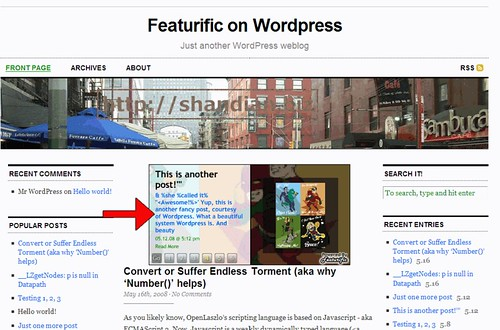 featurific for wordpress