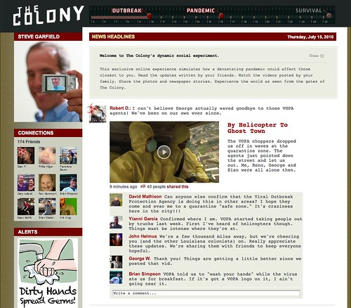 The Colony: Site Screenshot