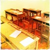 The Old Classroom (Nophadon Kitayanugul) Tags: thailand classroom oldclassroom studytable seaconsquare yesterdayoncemore studychair hipstamatic jimmylens redeyegelflash kodotverichromefilm