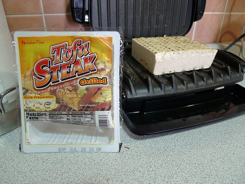 House Foods Tofu Steak on a George Foreman Grill