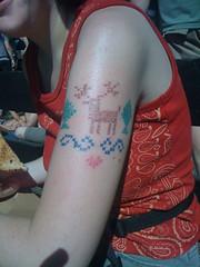 Cross-stitch tattoo (benjibot) Tags: tattoo crossstitch