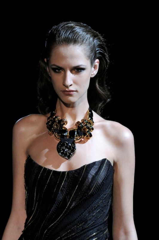 Basil Soda FW2010 collection zipper evening gown dress 04