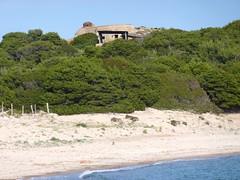 Presqu'île de Rondinara avec son blockhaus et la plage Sud