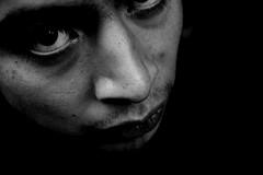 Portraits of a bird (Nury Nada Ms) Tags: light shadow portrait bw man male men bird byn luz face portraits de photography this hands sad darkness cara sombra retratos pedro un latest garcia hombre pjaro hombres oscuridad fotografa bigote masculino tlacuilo adonay abbabasoul