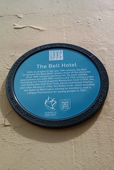 Photo of The Bell Hotel blue plaque