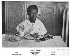 Betty's Dinner - February, 1920 (vieilles_annonces) Tags: old 1920s people black history dinner vintage magazine print bread milk scans african negro scan historic retro ephemera nostalgia butter american greens historical americana colored magazines articles folks oldphotos civilrights journalism newsclipping 1920 blackhistory 20s vintagephotos africans africanamericanhistory twenties negroes peopleofcolor vintagephotographs bakedpotatoes vintagemagazine blackchild coloredpeople milkgravy balancedmeal negrohistory blackpress blacknews ricewithjelly