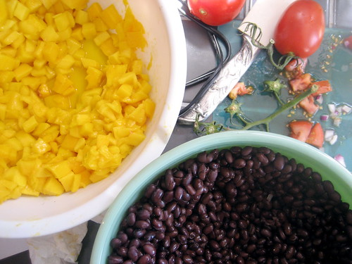 mango and black beans