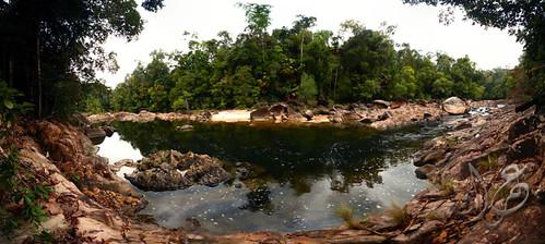 Panorama - Jeram sebelum Air Terjun Kemapan