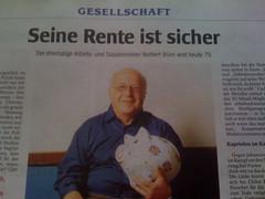 Norbert Blüm wird 75: Seine Rente ist sicher (WAZ)