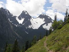 Views towards Buckhorn/Iron mountain from Tubal Cain trail on way towards Buckhorn Lake.