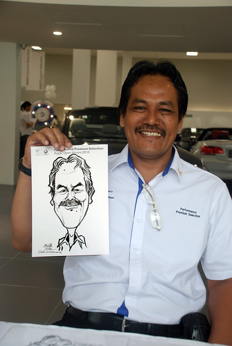 Caricature live sketching for Performance Premium Selection BMW - Day 3 - 6