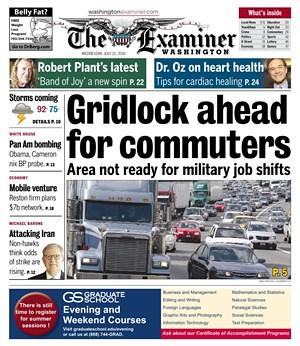Washington Examiner cover shot, 7/21/2010