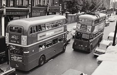 London transport's RM356 on route 268 and F1 686 Leyland Trolleybus on route 655. (Ledlon89) Tags: bus london electric transport routemaster lt trolleybus leyland parkroyal londonbus aec alltypesoftransport