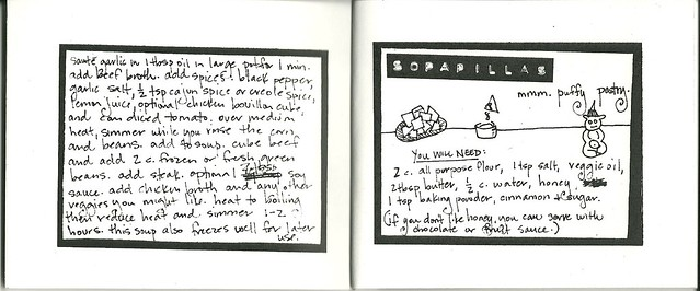 Inside scan of Nicci's zine