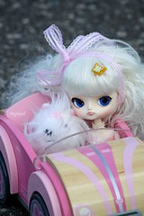 *vroom vroom!* (esmereldes) Tags: pink cars car doll dolls driving dal convertible cait toycar milch img0904 woodencar dals