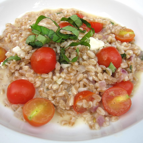 Summer Farro Risotto