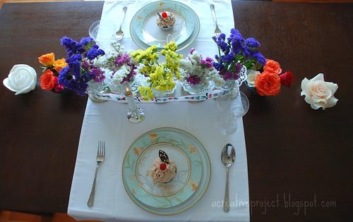 flowers tablescape