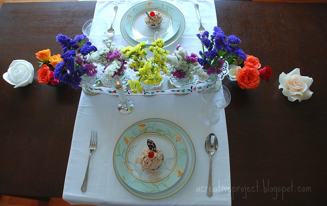 flowers tablescape
